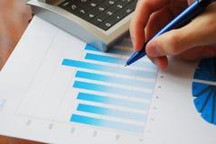 Financial data analyzing Stock Image
