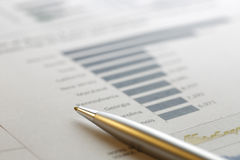 Financial data analyzing Royalty Free Stock Photos