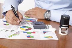 Financial data analyzing Stock Image