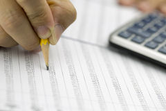 Financial data analyzing - Stock Image Royalty Free Stock Photography