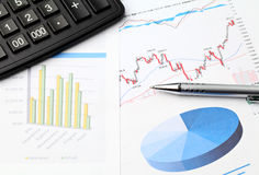 Financial data chart Royalty Free Stock Photography