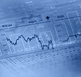 Financial data. The charts and quotes on display Royalty Free Stock Images