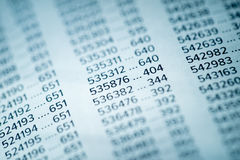 Financial Data Concept with Numbers Stock Photo