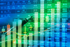 Financial data on a monitor,candle stick graph of stock market , Royalty Free Stock Image
