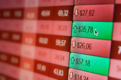 Financial data- online stock exchange Stock Photos