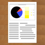 Financial data pie chart. Business graph data, financial round chart, vector illustration Royalty Free Stock Image