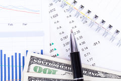 Financial Data Results Stock Image