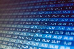Financial data- stock exchange. Computer screen Stock Image