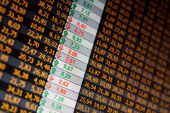 Financial data- stock exchange Stock Image