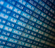 Financial data- stock exchange. Computer screen Royalty Free Stock Photo
