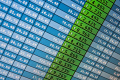 Financial data- stock exchange Stock Photography