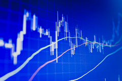 Financial data- stock exchange Stock Photo