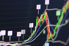 Financial data stock exchange Royalty Free Stock Photo