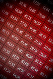 Financial data- stock exchange - loss. Financial data- stock exchange - red screen symbolizes losses stock images