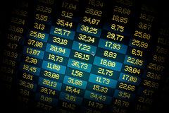Financial data- stock exchange. Spotlight. Financial data- stock exchange online computer screen. Dramatic spotlight Stock Photo