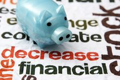 Financial decrease concept. Close up of Financial decrease concept Royalty Free Stock Image