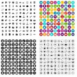 100 financial department icons set vector variant. 100 financial department icons set vector in 4 variant for any web design isolated on white Stock Photography