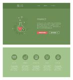 Financial  design template for websites and apps Stock Photo