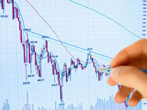 Financial diagram. Showing business and financial report Royalty Free Stock Image