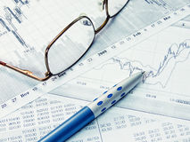 Financial diagram. Showing business and financial report Stock Photography