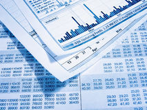 Financial diagram. Showing business and financial report Stock Photos