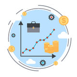 Financial diagram, business success, profit increase, business statistics vector illustration Royalty Free Stock Photo
