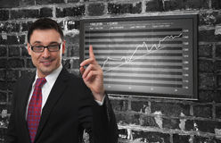 Financial diagram concept Royalty Free Stock Photography