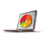 Financial diagram drawing. On the laptop monitor. Vector Stock Photography