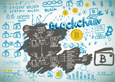 Financial diagram. Graphic of growing course of Bitcoin. Stock Photos