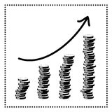 Financial diagram  increase Royalty Free Stock Photo