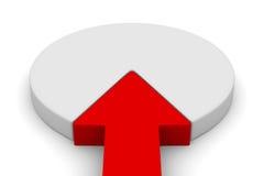 Financial diagramme on white background Stock Photo