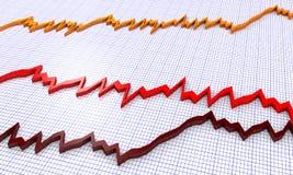 Financial diagrams Royalty Free Stock Image