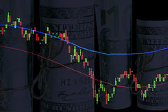 Financial diagrams. Close up of Financial diagrams Stock Images