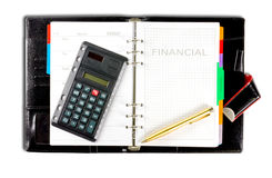 Financial diary Royalty Free Stock Photos