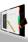Financial diary Royalty Free Stock Images