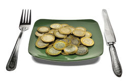 Financial diet Stock Photography