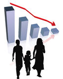 Financial difficulty/crisis. Financial difficulty in family, cost of living Royalty Free Stock Image