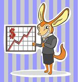 Financial director fox Thumbs up Stock Photography