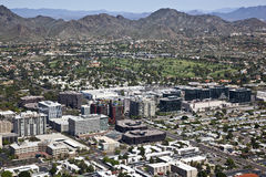 Financial District. Skyline along the Camelback corridor in Phoenix, Arizona Stock Photography