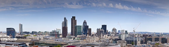 Financial District And Downtown, London, UK Stock Photos