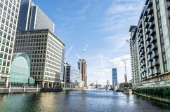 Financial district at Canary Wharf stock image