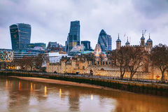 Financial district of the City of London Royalty Free Stock Photos