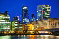 Financial district of the City of London Royalty Free Stock Images