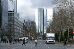 Financial District Frankfurt Royalty Free Stock Photo