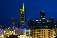 Financial District of Frankfurt, Germany Royalty Free Stock Image