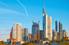 Financial district of Frankfurt am Main Royalty Free Stock Image