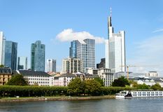 Financial district in Frankfurt Royalty Free Stock Photo