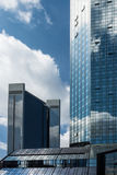 Financial district of Frankfurt Royalty Free Stock Photography