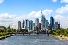 Financial district in Frankfurt Stock Photography