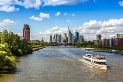 Financial district in Frankfurt Stock Image